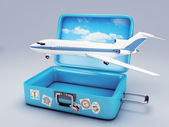 Travel suitcase. vacation concept 3d — Стоковое фото