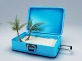 Travel suitcase. beach vacation — Foto de Stock