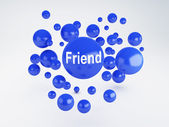 Friend sign. Social network  concept. — Stock Photo