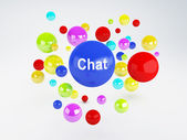 Chat sign. Social network  concept. — Stockfoto