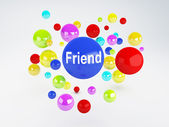 Friend sign. Social network  concept. — Stockfoto