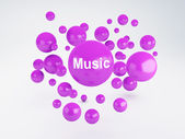 Bubble of music icon. Social network concept — Stock Photo