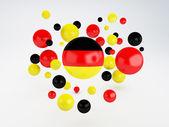 National flag of Germany on sphere — Stockfoto