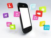 3d мобильный телефон приложение wifi — Стоковое фото