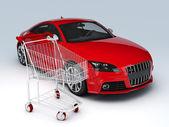 3d Car shop. sale concept — Stok fotoğraf