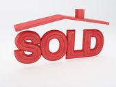 продается дом — Стоковое фото
