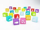 Mobile phone app icon. Software concept — ストック写真