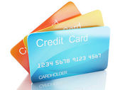 3d credit cart on white background — Stock Photo