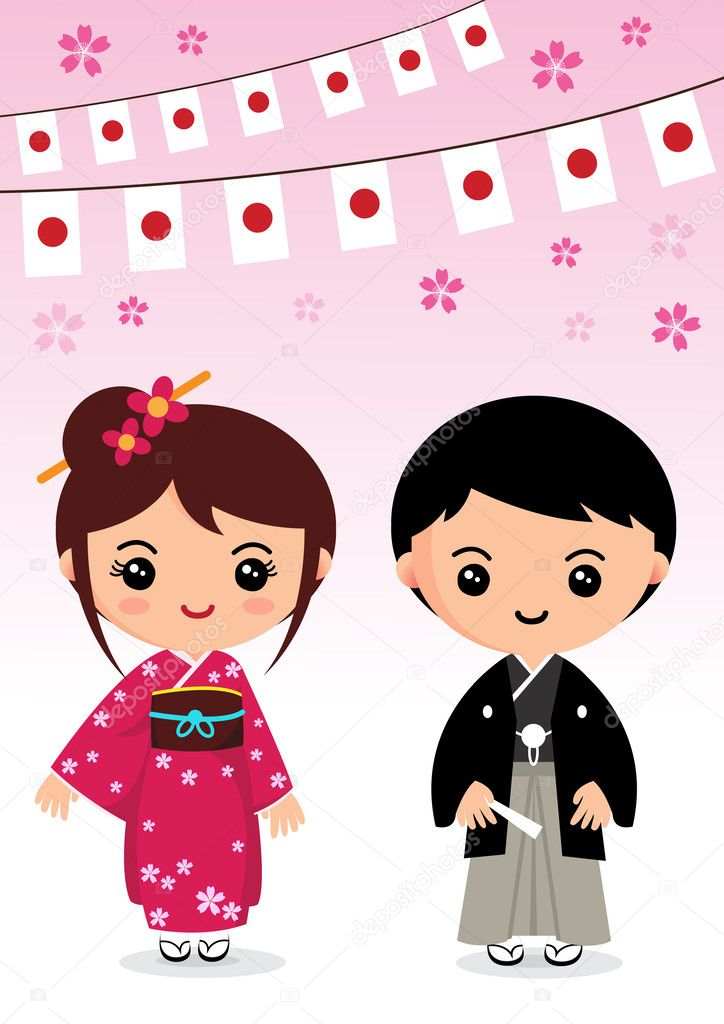 Japanese cartoon wedding