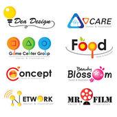 Koleksiyon logosu öğeleri, iş simgesi — Stok Vektör