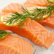 Stock Photo: Salmon fillets