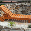 Stock Photo: Sunlounger in garden