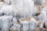 замерзший водопад — Стоковое фото