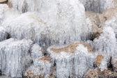 冻结的瀑布 — 图库照片