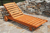 Sunlounger in the garden — Stock Photo