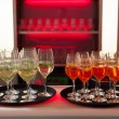 Stock Photo: Bar with red backlight