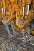 Track building machine — Stock Photo