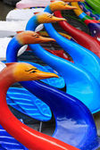 Colorful pedal boats — Stock Photo