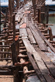 Old wood pier — Stock Photo