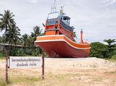 Thajské rybářské lodi po tsunami — Stock fotografie