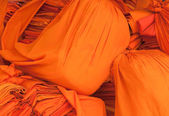 Clothes of buddhistic monks — Stock Photo