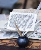 Viejo cursivo — Foto de Stock
