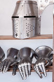 Protective medieval weapons — Stock Photo