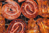 Sausage and spareribs — Stock Photo
