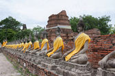 Temple Wat Yai Chai Mongkol in Thailand — Stock Photo