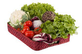 Vegetables on a tray — Stock Photo