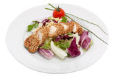 Turkey meat with sesame — Stock Photo