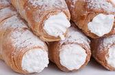 Kremalı pasta rulo — Stok fotoğraf