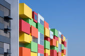 Färgglada fasad — Stockfoto