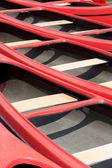 červený kánoe — Stock fotografie