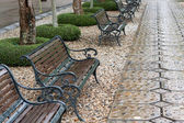 Park benches — Stock Photo
