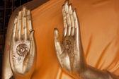 Hand with symbol — Stock Photo