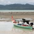 Thai fishing boat by low tide — Stock Photo #44722587