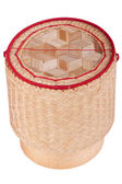 Asian wood basket — Stock Photo