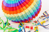 Colorful lantern with streamers — Stock Photo