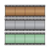 Brown, gray, green with hi-light film strip vector illustration — Stock Vector