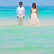 Pre wedding couple at sea coast — Stock Photo #41558417