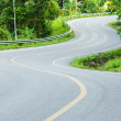 Road on mountain in country , S-shape. — Stock Photo