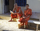 Buddhistic monks are in Vietnam — Foto de Stock