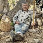 Senior farmer resting — Stock Photo #40498799