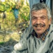 Senior farmer smiling — Stock Photo