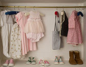 Baby girl cute closet — Stock Photo