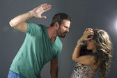Young couple fighting — Stock Photo