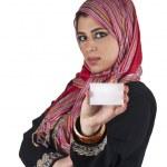 Islamic executive with card — Stock Photo