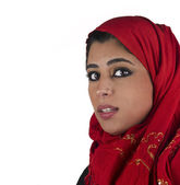 Arabian lady earing hijab — Stock Photo