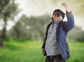 Arabian farmer proud of land — Foto Stock
